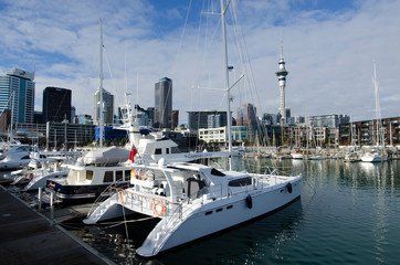 Auckland Viaduct Harbor Basin