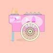 Ice cream cart.