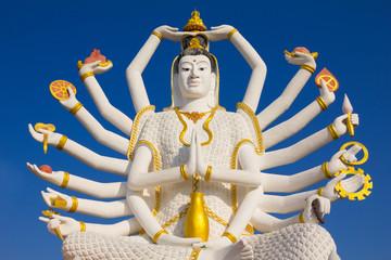Big Guan Yin statue at Wat Plai Laem Temple, Koh Samui, Thailand