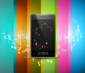 Abstract smart phone or mobile handset colorful rainbow backgrou