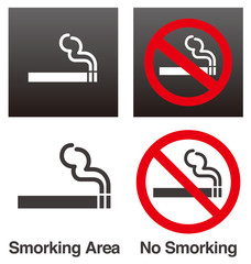 喫煙・禁煙サイン