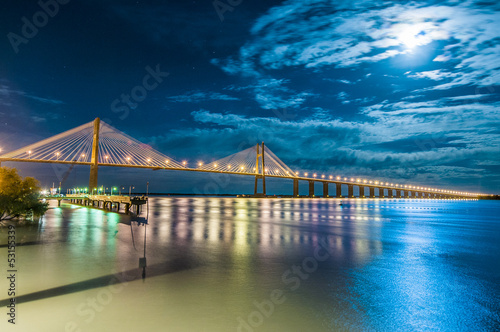 Rosario-Victoria Bridge across the Parana River, Argentina