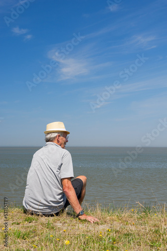 Sitting on Dutch Dyke