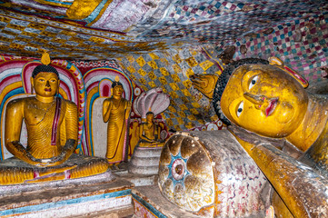 Painting in Dambulla Caves