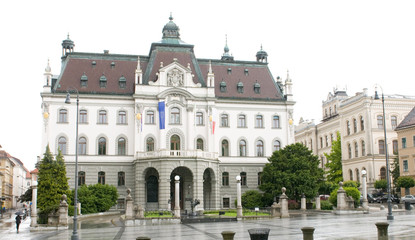 University of Ljubljana main building in Congress Square Sloveni
