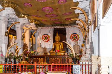 Buddha Statue in Kandy Temple