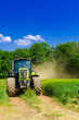 canvas print picture - Tractor with baler