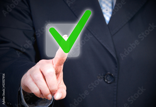 Businesswoman with Checkbox