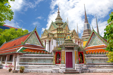 pavilion of Wat Pho temple in Bangkok, Thailand.