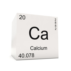 Cube of Calcium - element of the periodic table