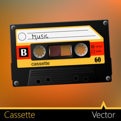 Cassette vector music retro