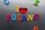 Fototapety i love poland sign