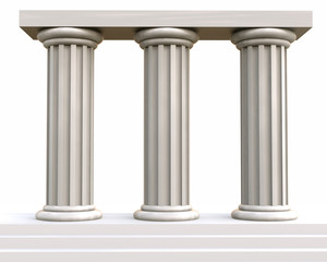 3D ancient column group