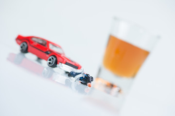 Drinking and driving concept