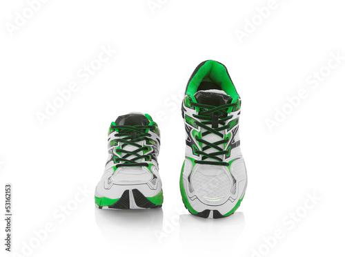 Laufschuhe laufend grün