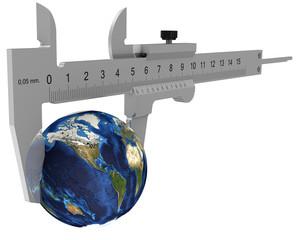 Штангенциркуль измеряет земной шар