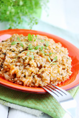 Risotto with watercress