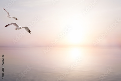 Poster art abstract beautiful light sea summer background