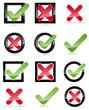 Keuz Haken Icons Sammlung