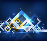 Modern abstract geometrical design