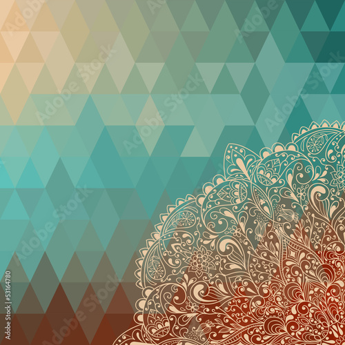 Vector highly detailed floral pattern