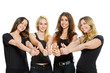 Group of girls standing with thumbs up