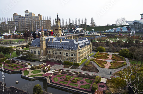 Miniature city Madurodam. The Hague, Netherlands.