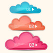 Colorful paper speech bubble. Numbered banners. Vector template