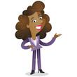 Businesswoman, gesturing, presentation, service
