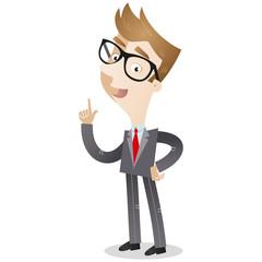 Businessman, explaining, talking, gesturing