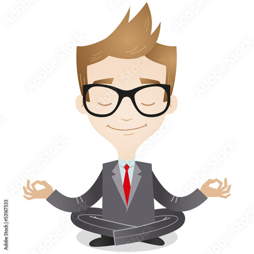Businessman, yoga, relaxing, meditation