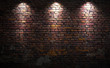Brick wall with lights