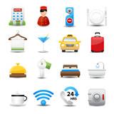 Fototapety Hotel Icons set