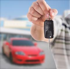 Handing car key
