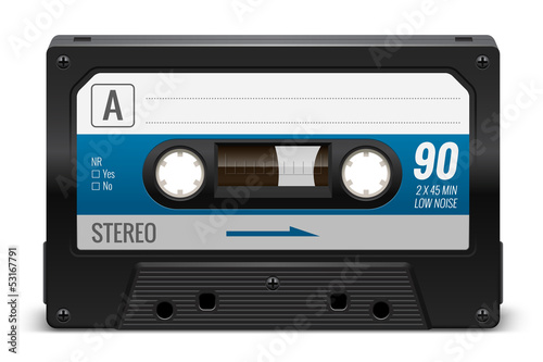 Cassette audio vectorielle 1