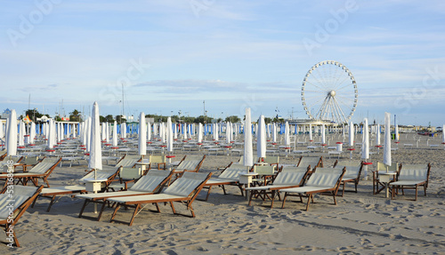 Italian beach with ferris wheel
