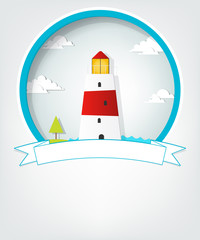 emblem with lighthouse