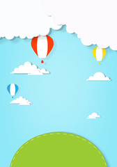 air balloons flying over land