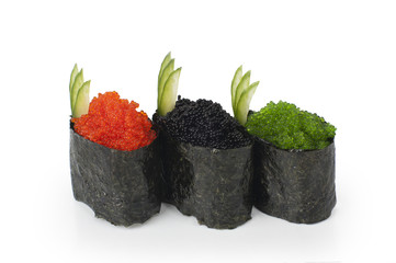 Japanese food - Gunkan with tobiko caviar
