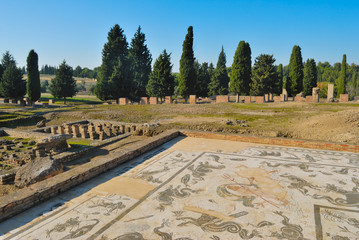 Roman ruins at Italica in  Seville  Spain,