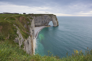 Coast in Etretat, Haute Normandie, France