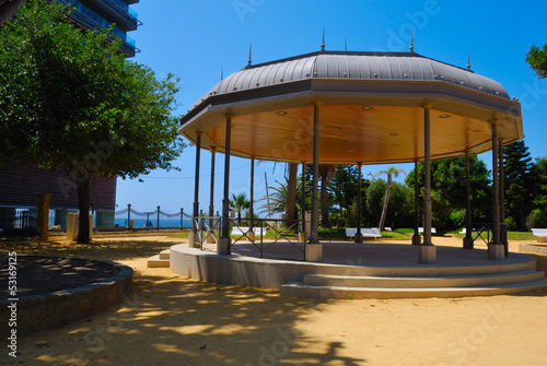 Picnic in park located in Jerez de la Frontera, Spain