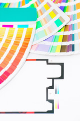 Graphic design and printing, printed packaging and palette