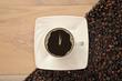 Uhr im Kaffee