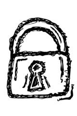 Metallschloss - SIcherheit; Skizze