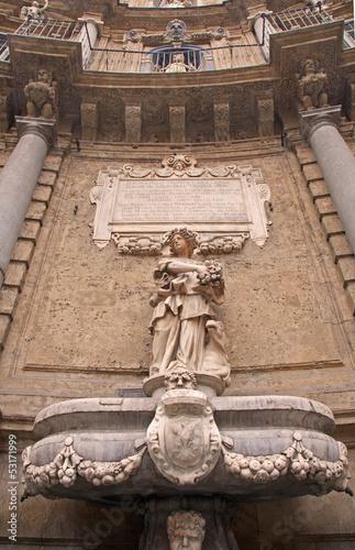 Palermo - fountain from Quatro canti corso