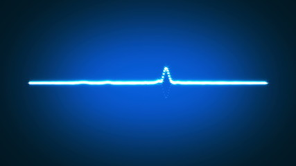 Blue waveform background, HD 1080p, loop.