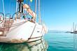 yacht docked in the marina