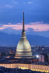 Mole Antonelliana di notte (verticale), Torino (Piemonte)