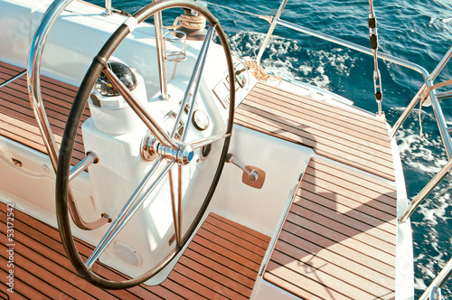 Sailboat cockpit